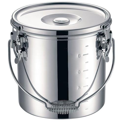 KO 19-0 電磁調理器対応 スタッキング給食缶 27cm [ 深さ:270mm底径:240mm 15L ] [ 給食道具 ] | 給食 社食 配膳 飲食店 厨房 レストラン 業務用
