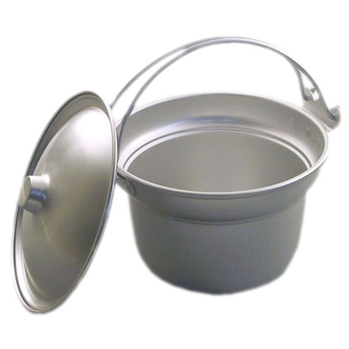 アルマイト ジャム・バター入 227 3 0l [ 直径:215 x H130mm 3L ] [ 料理道具 ] | 給食 社食 配膳 飲食店 厨房 業務用