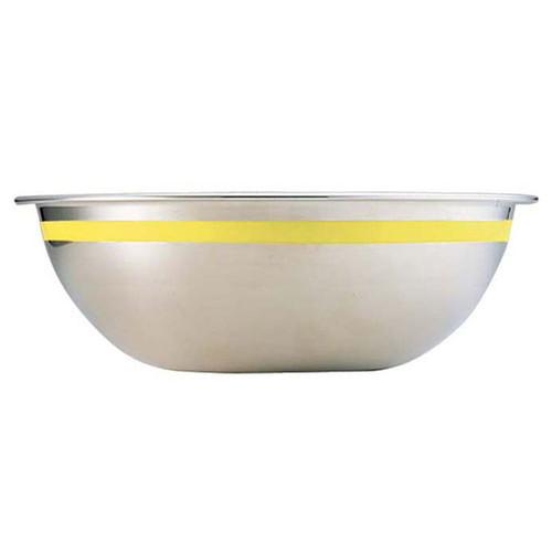 TKG 18-8 カラーラインボール 33cm イエロー [ 深さ:126mm 容量:8.2L ] [ 料理道具 ] | 飲食店 ホテル レストラン 和食 洋食 中華 キッチン 業務用