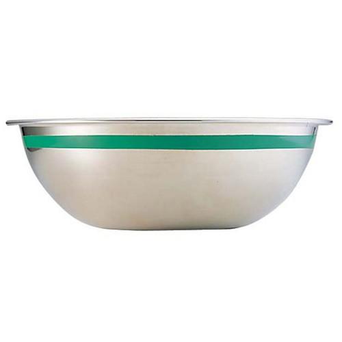 TKG 18-8 カラーラインボール 33cm グリーン [ 深さ:126mm 容量:8.2L ] [ 料理道具 ] | 飲食店 ホテル レストラン 和食 洋食 中華 キッチン 業務用