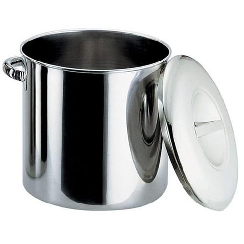 厨房でも耐えうる確かな製品には、強固さと使い勝手を兼ね備えた逸品です。飲食店 ホテル レストラン 厨房 社食 業務用 エコクリーン18-8内蓋式キッチンポット 33cm(手付)(本体内面ゼロクリア加工) [ 内径:330 x 深さ:330mm 容量:28.2L ] [ 保存容器 ] | 飲食店 ホテル レストラン 厨房 社食 業務用