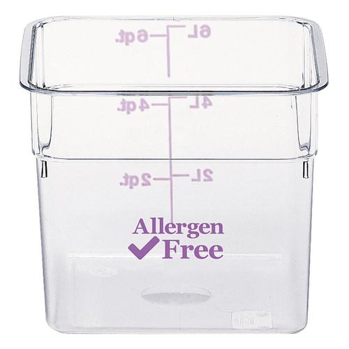 キャンブロ アレルゲンフリーコンテナー(蓋なし) パープル 22SFSCW441 [ 内寸間口:285 x 奥行:285 x 深さ:400mm容量:20.8L ] [ 保存容器 ] | 給食 飲食店 厨房 アレルギー対応 業務用