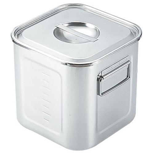 厨房でも耐えうる確かな製品には、強固さと使い勝手を兼ね備えた逸品です。飲食店 ホテル レストラン 厨房 社食 業務用 SAモリブデン深型角キッチンポット 目盛付(手付) 36cm [ (内寸)幅:357 x 奥行:357 x 深さ:357mm 容量:46L ] [ 保存容器 ] | 飲食店 ホテル レストラン 厨房 社食 業務用