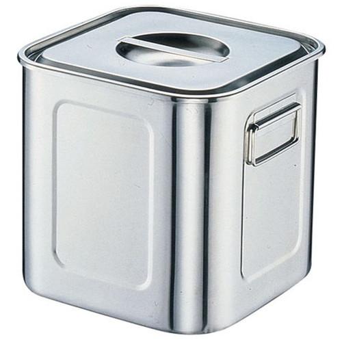 厨房でも耐えうる確かな製品には、強固さと使い勝手を兼ね備えた逸品です。飲食店 ホテル レストラン 厨房 社食 業務用 18-8深型角キッチンポット (手付) 39cm [ (内寸)幅:386 x 奥行:386 x 深さ:386mm 容量:59L ] [ 保存容器 ] | 飲食店 ホテル レストラン 厨房 社食 業務用
