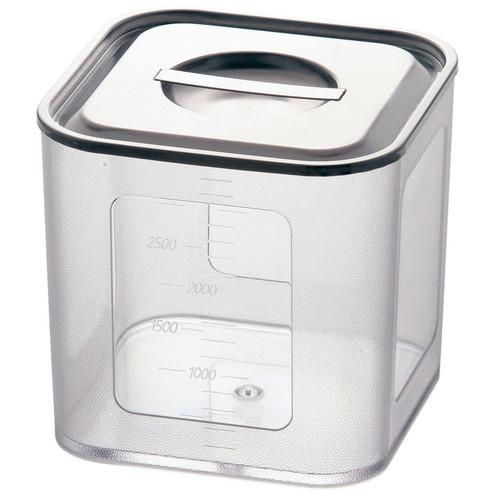 ポリカーボネイト 深型角キッチンポット 16.5cm [ 内寸:160 x 深さ:155mm 内容量:3.7L ] [ 保存容器 ] | 飲食店 ホテル レストラン 厨房 社食 業務用