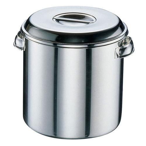 クローバー モリブデン キッチンポット目盛付 (手付)36cm [ 内径:360 x 深さ:360mm 容量:36L ] [ 保存容器 ] | 飲食店 ホテル レストラン 厨房 社食 業務用