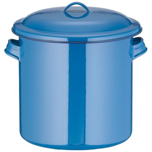 ホーローキッチンポット(手付) 24cm [ 内径:240 x 深さ:240mm 容量:10L ] [ 保存容器 ] | 飲食店 ホテル レストラン 厨房 社食 業務用