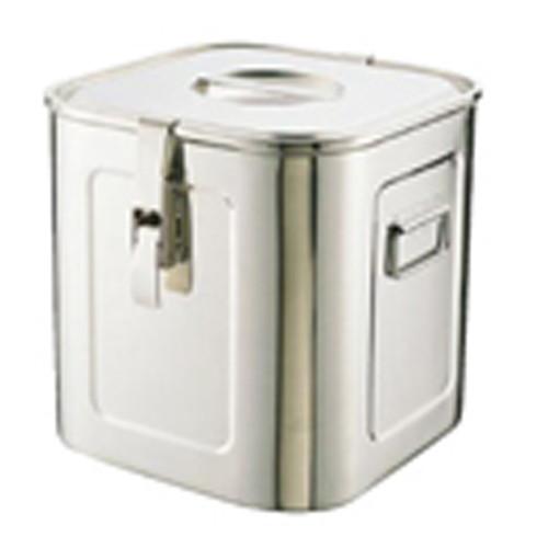 厨房でも耐えうる確かな製品には、強固さと使い勝手を兼ね備えた逸品です。給食 ホテル ケータリング キッチンカー 業務用 18-8パッキンフック付角キッチンポット(シリコンゴム) (手付) 33cm [ 内寸幅:328 x 奥行:328 x H327mm 容量:35L ] [ 保存容器 ] | 給食 ホテル ケータリング キッチンカー 業務用
