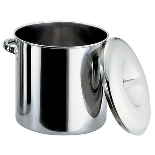 厨房でも耐えうる確かな製品には、強固さと使い勝手を兼ね備えた逸品です。飲食店 ホテル レストラン 厨房 社食 業務用 18-8内蓋式キッチンポット(目盛付) (手付)33cm [ 内径:330 x 深さ:330mm 容量:28.2L ] [ 保存容器 ] | 飲食店 ホテル レストラン 厨房 社食 業務用