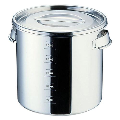 SAモリブデン目盛付キッチンポット (手付)20cm [ 内径:200 x 深さ:200mm 容量:6L ] [ 保存容器 ] | 飲食店 ホテル レストラン 厨房 社食 業務用