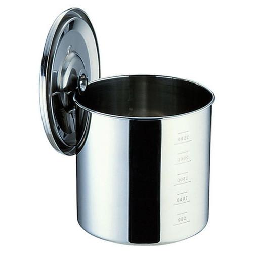 厨房でも耐えうる確かな製品には、強固さと使い勝手を兼ね備えた逸品です。飲食店 ホテル レストラン 厨房 社食 業務用 SAモリブデン目盛付キッチンポット (手付)33cm [ 内径:330 x 深さ:330mm 容量:26L ] [ 保存容器 ] | 飲食店 ホテル レストラン 厨房 社食 業務用