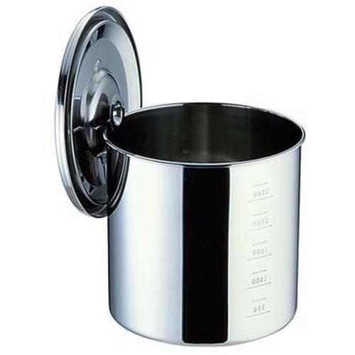 UK18-8目盛付 キッチンポット 17cm [ 内径:170 x 深さ:170mm 容量:3.8L ] [ 保存容器 ] | 飲食店 ホテル レストラン 厨房 社食 業務用