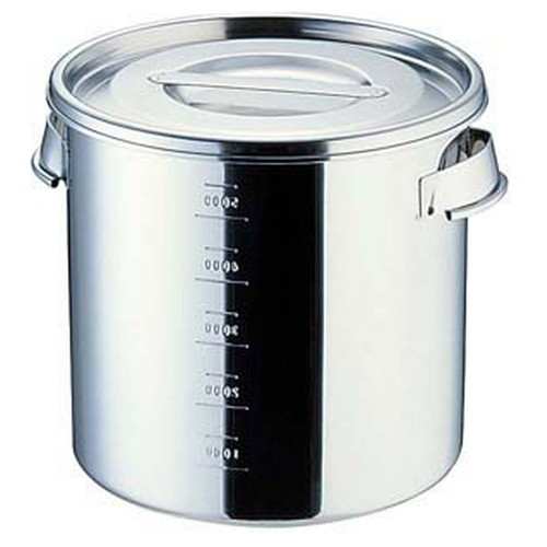 UK18-8目盛付 キッチンポット 20cm(手付) [ 内径:200 x 深さ:200mm 容量:6L ] [ 保存容器 ] | 飲食店 ホテル レストラン 厨房 社食 業務用