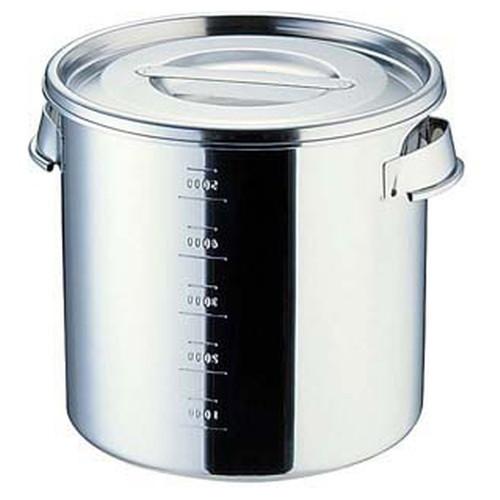 UK18-8目盛付 キッチンポット 30cm(手付) [ 内径:300 x 深さ:300mm 容量:21L ] [ 保存容器 ] | 飲食店 ホテル レストラン 厨房 社食 業務用