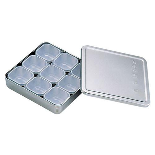 MA18-8検食容器 普及型 (小9個入) [ 幅:170 x 奥行:170 x H38mm 容量:0.87cc ] [ 保存容器 ] | 飲食店 ホテル レストラン 厨房 検査 業務用