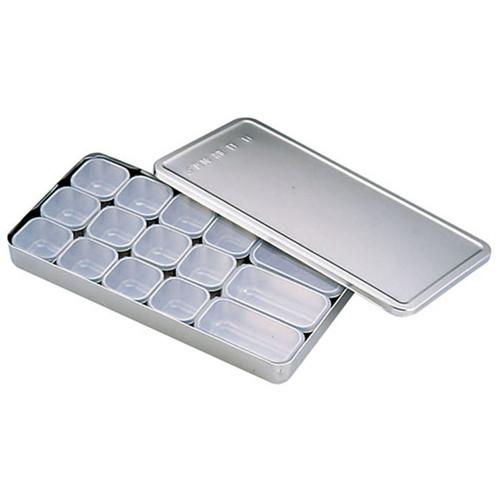 MA18-8検食容器 B型 (大3個 小12個入) [ 幅:340 x 奥行:170 x H38mm 容量:1.66cc ] [ 保存容器 ]   飲食店 ホテル レストラン 厨房 検査 業務用