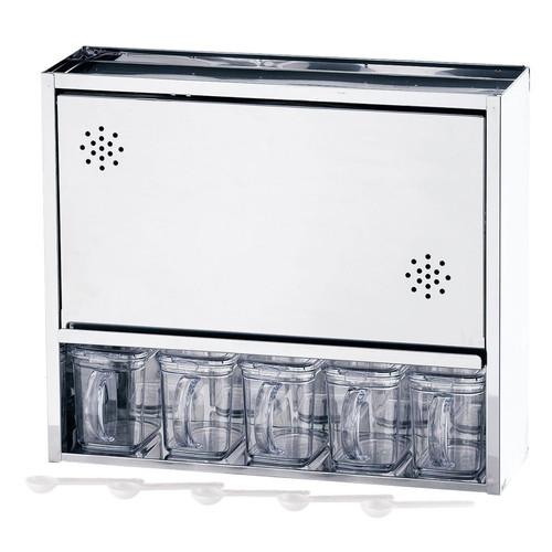 18-0 スパイスラック 5杯 [ 幅:465 x 奥行:155 x H400mm ] [ 保存容器 ] | 飲食店 ホテル レストラン 厨房 社食 業務用