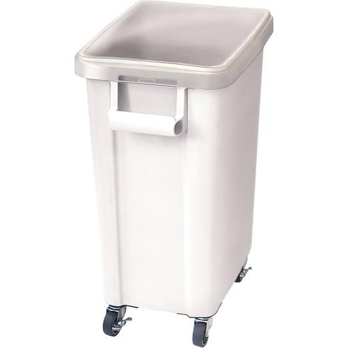 リス キャスター付材料保管容器(蓋付) 45型 ホワイト [ 間口:505 x 奥行:305 x H595mm ] [ 保存容器 ]   飲食店 レストラン 厨房 キッチン ホテル 業務用