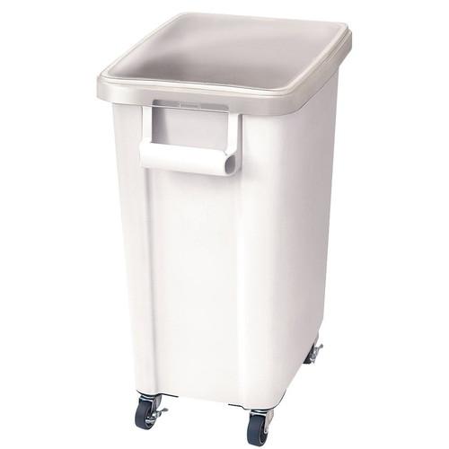 リス キャスター付材料保管容器(蓋付) 70型 ホワイト [ 間口:570 x 奥行:350 x H695mm ] [ 保存容器 ] | 飲食店 レストラン 厨房 キッチン ホテル 業務用