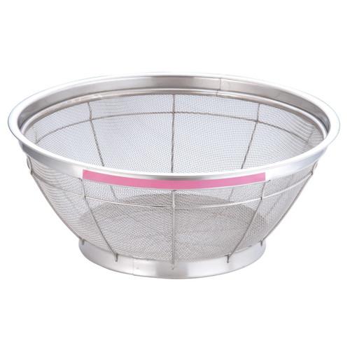 TKG NEWマンモス カラー 浅型ざる 37.5cm ピンク [ 外径:402 x 深さ:150mm ] [ 料理道具 ] | 飲食店 ホテル レストラン 和食 洋食 中華 キッチン 業務用