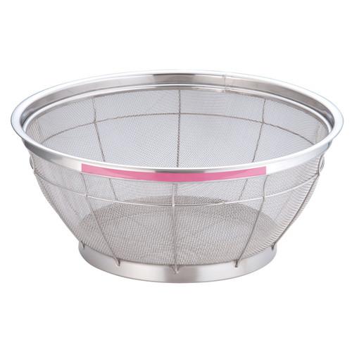 TKG NEWマンモス カラー 浅型ざる 40cm ピンク [ 外径:427 x 深さ:165mm ] [ 料理道具 ] | 飲食店 ホテル レストラン 和食 洋食 中華 キッチン 業務用
