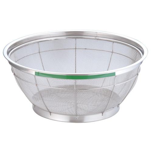 TKG NEWマンモス カラー 浅型ざる 40cm グリーン [ 外径:427 x 深さ:165mm ] [ 料理道具 ] | 飲食店 ホテル レストラン 和食 洋食 中華 キッチン 業務用