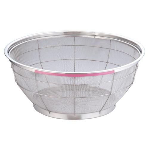 TKG NEWマンモス カラー 浅型ざる 50cm ピンク [ 外径:528 x 深さ:220mm ] [ 料理道具 ] | 飲食店 ホテル レストラン 和食 洋食 中華 キッチン 業務用