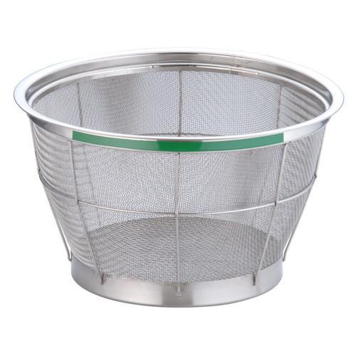 TKG NEWマンモス カラー 深型ざる 30cm グリーン [ 外径:325 x 深さ:180mm 容量:4升 ] [ 料理道具 ] | 飲食店 ホテル レストラン 和食 洋食 中華 キッチン 業務用