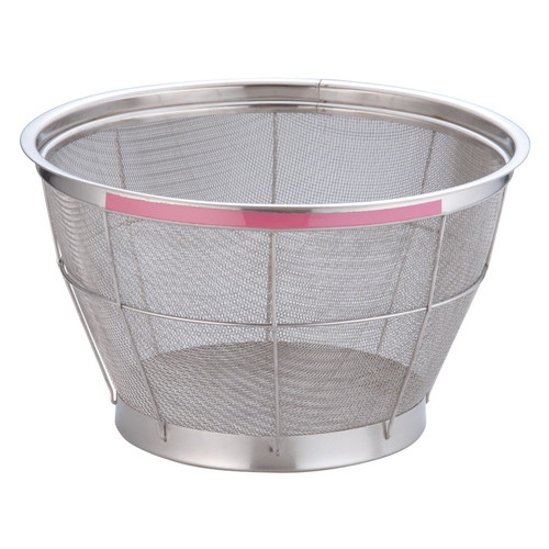 TKG NEWマンモス カラー 深型ざる 33cm ピンク [ 外径:350 x 深さ:200mm 容量:5升 ] [ 料理道具 ] | 飲食店 ホテル レストラン 和食 洋食 中華 キッチン 業務用