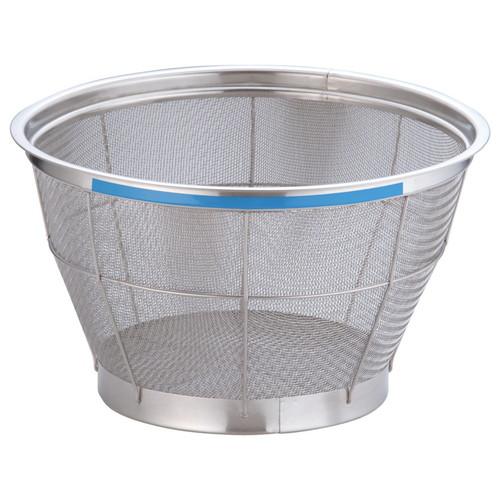 TKG NEWマンモス カラー 深型ざる 33cm ブルー [ 外径:350 x 深さ:200mm 容量:5升 ] [ 料理道具 ]   飲食店 ホテル レストラン 和食 洋食 中華 キッチン 業務用