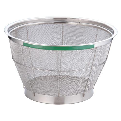 TKG NEWマンモス カラー 深型ざる 33cm グリーン [ 外径:350 x 深さ:200mm 容量:5升 ] [ 料理道具 ] | 飲食店 ホテル レストラン 和食 洋食 中華 キッチン 業務用