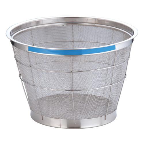 TKG NEWマンモス カラー 深型ざる 35cm ブルー [ 外径:376 x 深さ:215mm 容量:8升 ] [ 料理道具 ] | 飲食店 ホテル レストラン 和食 洋食 中華 キッチン 業務用