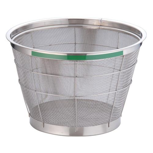 TKG NEWマンモス カラー 深型ざる 35cm グリーン [ 外径:376 x 深さ:215mm 容量:8升 ] [ 料理道具 ] | 飲食店 ホテル レストラン 和食 洋食 中華 キッチン 業務用