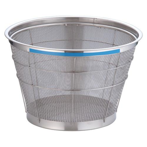 TKG NEWマンモス カラー 深型ざる 37.5cm ブルー [ 外径:401 x 深さ:230mm 容量:1斗 ] [ 料理道具 ]   飲食店 ホテル レストラン 和食 洋食 中華 キッチン 業務用