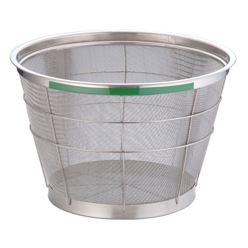 TKG NEWマンモス カラー 深型ざる 37.5cm グリーン [ 外径:401 x 深さ:230mm 容量:1斗 ] [ 料理道具 ] | 飲食店 ホテル レストラン 和食 洋食 中華 キッチン 業務用