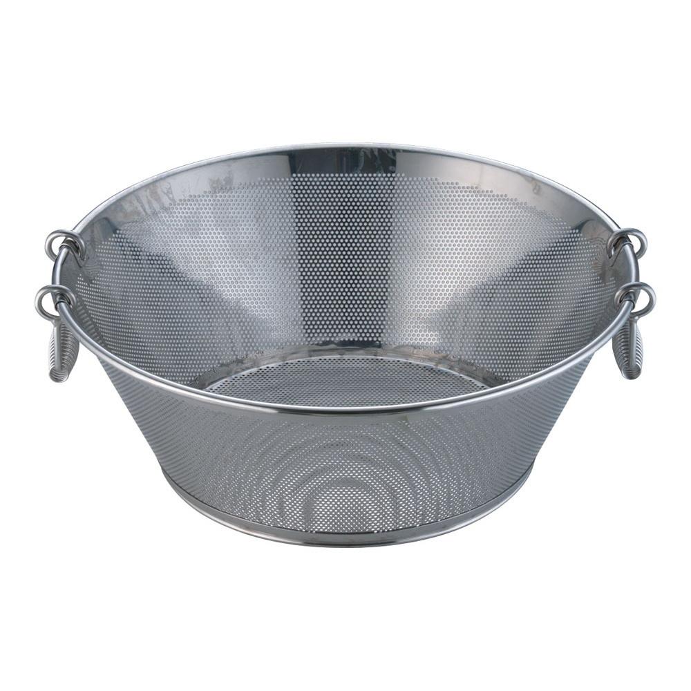 UK18-8パンチング平底揚ざる 45cm [ 外径:465 x H175mm ] [ 調理器具 ]   厨房用品 飲食店 キッチン 料理道具 業務用