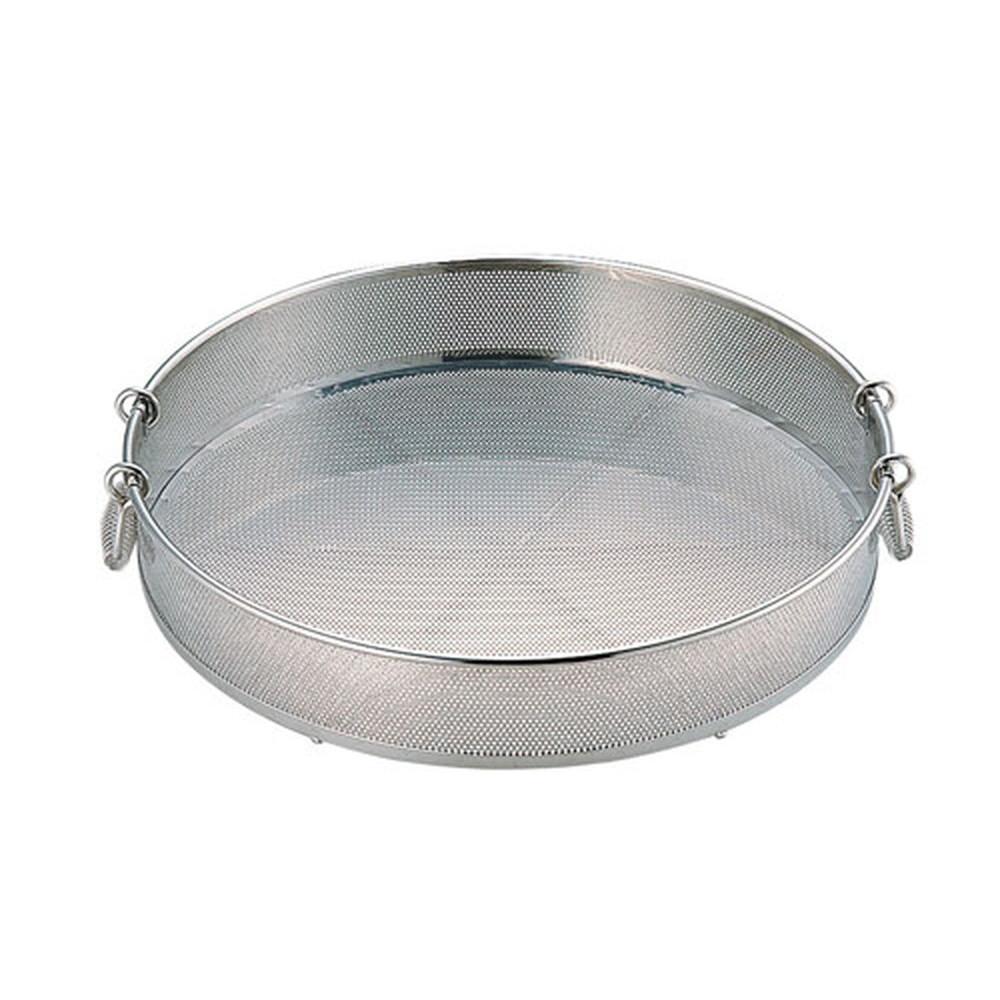 UK 18-8 パンチング 手付蒸しザル 50cm(穴径φ2.2mm) [ 外径:517 x H100mm ] [ 調理器具 ] | 厨房用品 飲食店 キッチン 料理道具 業務用