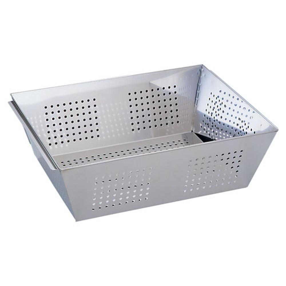UK18-8パンチング角ざる M [ 幅:490 x 奥行:385 x H160mm ] [ 調理器具 ]   厨房用品 飲食店 キッチン 料理道具 業務用