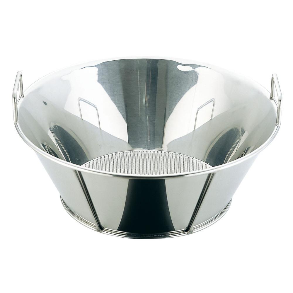 UK18-8揚げざる/底パンチング 45cm(穴径φ2.2mm) [ 外径:465 x H175mm ] [ 調理器具 ] | 厨房用品 飲食店 キッチン 料理道具 業務用