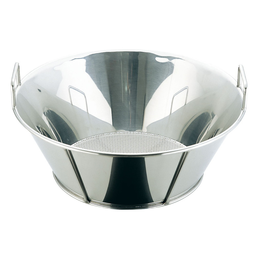 UK18-8揚げざる/底パンチング 51cm(穴径φ2.2mm) [ 外径:525 x H195mm ] [ 調理器具 ] | 厨房用品 飲食店 キッチン 料理道具 業務用