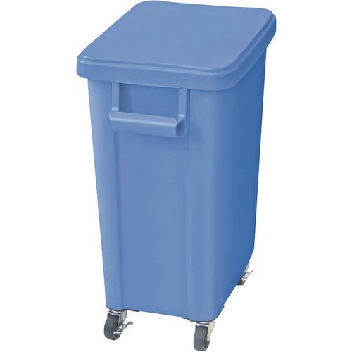 ☆ ゴミ箱 ☆ 厨房用キャスターペール70L 排水栓付 ブルー [ 570 x 350 x H695mm ] 【 レストラン ホテル 飲食店 調理小物 業務用 】