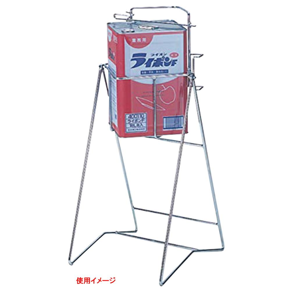 角缶用スチール缶スタンド KC-01 [ 395 x 420 x H860mm ] 【 清掃用品 】  飲食店 ホテル レストラン 厨房 業務用