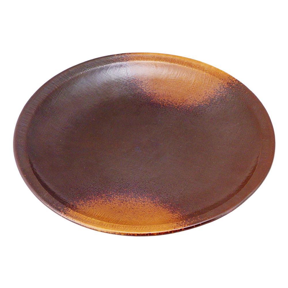 (強)焼締(布目)10.0丸皿 [ Φ30.5 x H3cm 1100g ] 【 大皿 】 【 飲食店 料亭 旅館 和食器 業務用 】