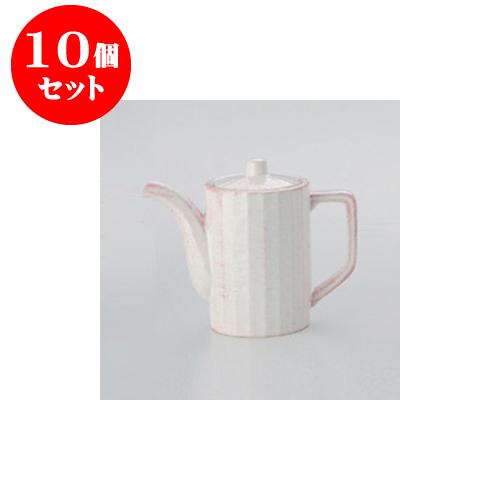 10個セット 鍋用品 粉引汁次(中) [8.7 x 12.4cm 500cc] 【料亭 旅館 和食器 飲食店 業務用】