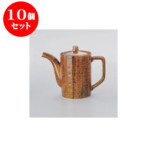 10個セット 鍋用品 飴斑点汁次(中) [8.7 x 12.4cm 500cc] 【料亭 旅館 和食器 飲食店 業務用】