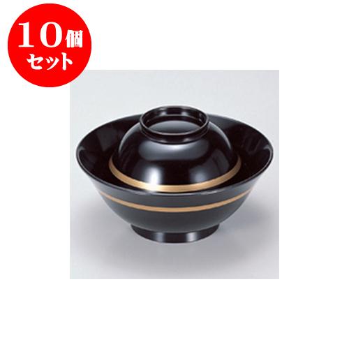 10個セット 煮物椀 [TM]4寸彩多用椀 黒金線 [11.7 x 6.7cm] 【料亭 旅館 和食器 飲食店 業務用】