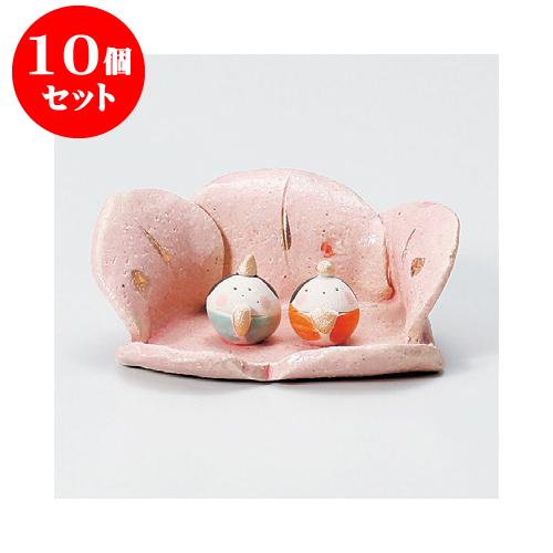 10個セット 縁起の福飾り 桃の花かご雛 [4.2cm] 【インテリア 縁起物】