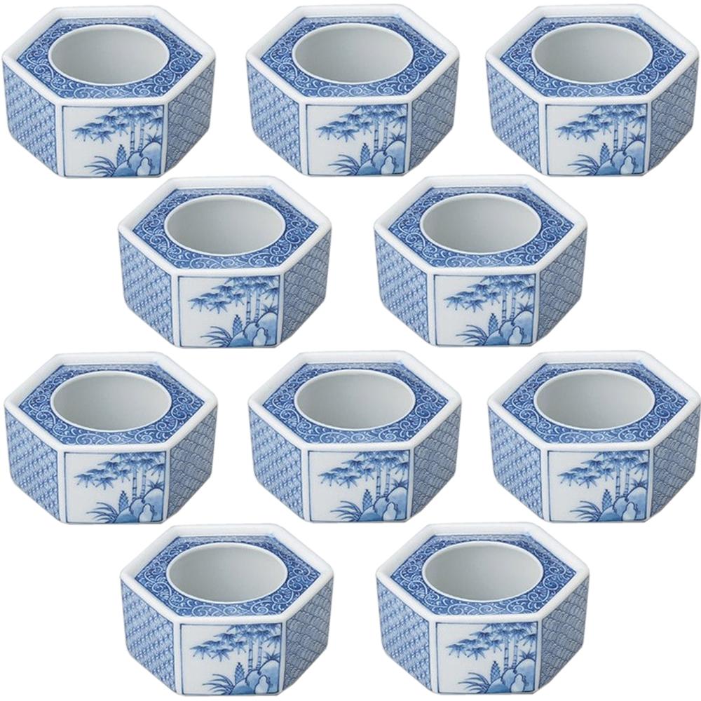 10個セット 灰皿 祥瑞六角灰皿 [12 x 6cm] 【和食器 料亭 旅館 飲食店 業務用】