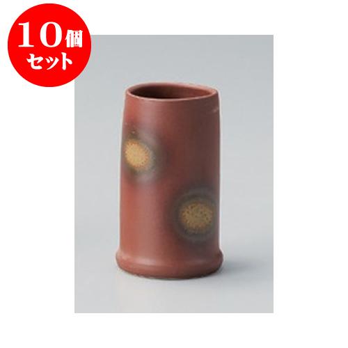 10個セット 卓上小物 備前風箸立 [6.5 x 12.8cm] 【料亭 旅館 和食器 飲食店 業務用】