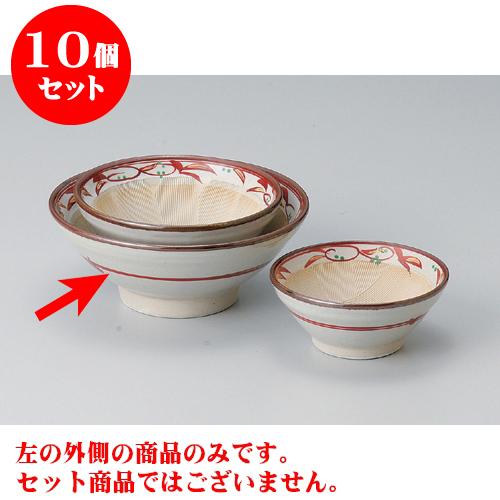 10個セット すり鉢 赤絵唐草6.0すり鉢 [18.5 x 8cm] 【料亭 カフェ 和食器 飲食店 業務用】